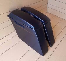 STRETCHED SADDLEBAGS NO EXHAUST CUT OUTS AND LIDS FOR HARLEY DAVIDSON 1996-2013
