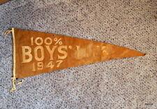 VINTAGE BOY SCOUT FELT PENNANT - 1948 - 100% BOYS' LIFE