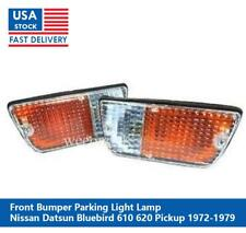 PAIR FRONT BUMPER LIGHT LAMP FOR NISSAN DATSUN 620 PICKUP 1972 1973 1974 - 1979