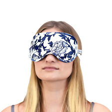 Jasmine Silk Pure Silk Filled Sleep Eye Mask Sleeping Blue and White Porcelain