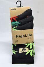 New Rasta Weed Cannabis Leaf 3 pair Adults Trainer Socks