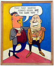 VIRGIL PARTCH Original OIL PAINTING Signed VIP Comic BIG GEORGE Pub ART Cartoon