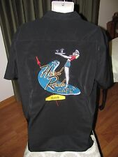 Hard Rock Cafe NASHVILLE Button Down Black Mens Shirt L Large Pin-Up Girl Sewn