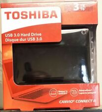 TOSHIBA 3TB Canvio Connect II Portable Hard Drive USB 3.0 Model HDTC830XK3C1 Bla