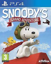 Snoopy's Grand Adventure: Peanuts Movie [PlayStation 4 PS4, Region Free] NEW