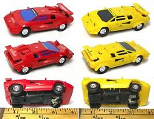 2 pc Artin 1/43 scale LAMBORGHINI COUNTACH 5000 Quattrovalve Slot Race Car PAIR