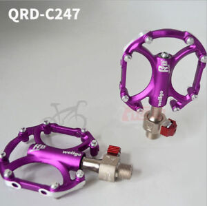 Wellgo Quick Release Bike Pedals Aluminum Ultralight Bicycle Pedals 9/16'' QRD~