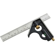 """6"""" COMBINATION SQUARE With Spirit Level Carpenters Carpentry Angles DIY Tools"""