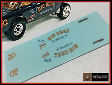 Hot Wheels '55 Chevy Big Deal Gasser' BLACK Reproduction Decal 5555bd2