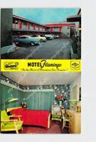 PPC POSTCARD CALIFORNIA SAN FRANCISCO MOTEL FLAMINGO MAP ON BACK
