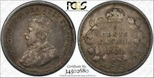 **1921**, PCGS Graded Canadian Small Silver,  5 Cent, **EF-40**
