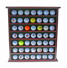 49 Golf Ball Display Case Cabinet Rack Wall Shelves, NO Door, Mahogany Finish
