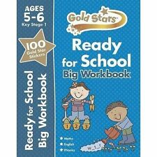 Gold Stars Ready for School Big Workbook Ages 5-6 Key Stage 1 by Parragon Books Ltd (Paperback, 2014)