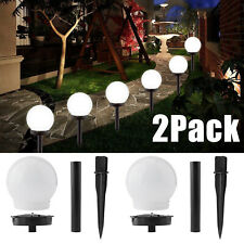 2 Pack Solar LED Stake Lights Waterproof Outdoor Garden Landscape Decor Lamps