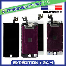 ECRAN LCD COMPLET SUR CHASSIS + VITRE TACTILE IPHONE 6 NOIR OU BLANC