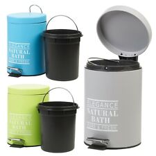3L Bathroom Toilet Pedal Bin Caddy Rubbish Waste Trash Can Tidy Stainless Steel