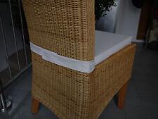 Stuhlkissen 40 x 40 x 4 cm Sitzkissen beige mit Klettband