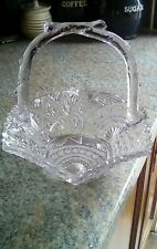 1888 VICTORIAN clear  glass basket by GEORGE DAVIDSON