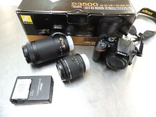 Nikon D3500 24.2 MP Digital Camera - BUNDLE 2 LENSES, 2 BATTERIES USED ONCE!
