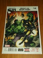 HULK VS IRON MAN #4 MARVEL COMICS ORIGINAL SIN OCTOBER 2014 NM (9.4)
