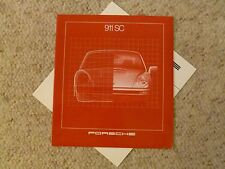 1981 Porsche 911 SC DELUXE Showroom Advertising Brochure + Tech Spec Insert RARE