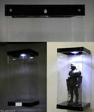 Acrylic Display Led Light Stand Fit For 1/6 scale Action Figure Transparent Box