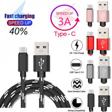 Micro USB Type-C For Sony Xperia Phones Nylon Fast Charging Data Sync Cable