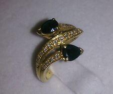 Schlangenring 2 x Saphir dunkelblau 750 GG Diamanten 3,6 Gr. ca 16 mm Nice
