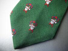 New! Brooks Brothers Christmas Holiday SILK TIE  Parachute Santa ~ $79.50 NWT