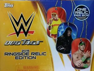 WWE Dog Tags 2015 RINGSIDE RELIC EDITION single / choose UPDATED March 2019