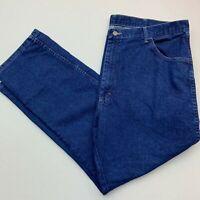 Wrangler Jeans Mens 42X30 Blue Straight Leg Regular Fit Cotton Blend Medium Wash