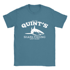 Quints Shark Fishing Mens T-Shirt Jaws Funny Vintage Look Gift Movie Top