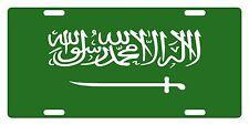 Saudi Arabia Flag Custom License Plate Kingdom Of Saudi Arabia Emblem Version 1