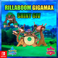 Rillaboom Ultra Shiny Gigamax 6ivs Pokémon Espada y Escudo Envió Rápido
