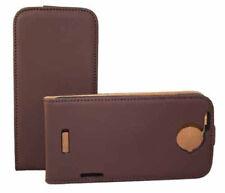 Premium Flip Case Tasche für HTC One X in braun Etui Hülle Schutzcase