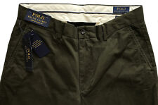 Men's POLO RALPH LAUREN Dark Olive Green Stretch Classic Fit Pants 46x32 NEW NWT