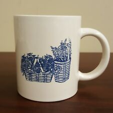 Two Blue and White Bouquet of Flower Baskets Coffee Mug