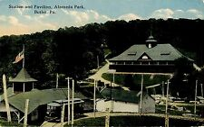 BUTLER PA ALAMEDA PARK TROLLEY STATION AND PAVILION CIRCA 1910
