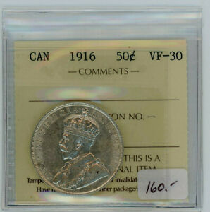 1916 Canada Fifty Cents - ICCS VF-30