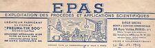 EPAS créateur fabricant du pistolet Pneuma-Tir 500 / Tir Cible Arme / Paris 1949