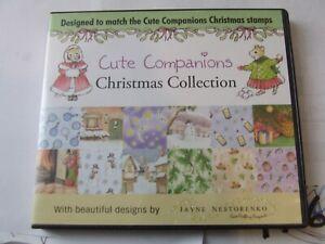 CUTE COMPANIONS CHRISTMAS COLLECTION CRAFTING CD JAYNE NESTORENKO  VGC