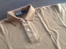 top RALPH LAUREN POLO Hemd shirt kurzarm Gr.S braun-beige-khaki
