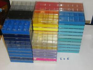 248) Aufbewahrung: 77x 10er Kästchen in verschiedenen Farben
