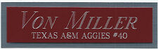 VON MILLER TEXAS A&M NAMEPLATE AUTOGRAPHED SIGNED FOOTBALL HELMET JERSEY PHOTO