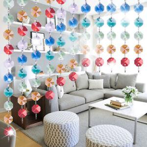 46pc DIY Crystal Prisms Pendant Rainbow Bead Curtain Suncatcher Kits Chandelier