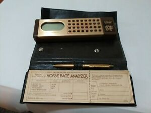 Mattel Electronics Horse Race Analyzer 1979 w/ Case, Tally Sheets, and Pen Works