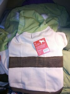 Petco Star Wars Yoda Medium Dog Hoodie Sweater Knit Fleece Sweatshirt Costume NW