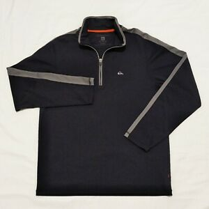 Quicksilver Men's Quarter Zip Performance Shirt Medium Dark Gray Mockneck