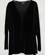 Impressions Elegant Evening Blouse With Ribbed Bling MadeUSA Size XL (NWT)