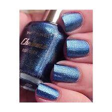 1 CHROME Nail Polish 33970 GREW UP IN COBALT-IMORE EnamelBlue Glitter Wet N Wild